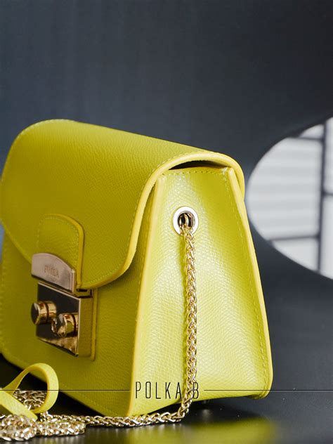furla metropolis mini crossbody bag yellow polka b authentic luxury you can afford