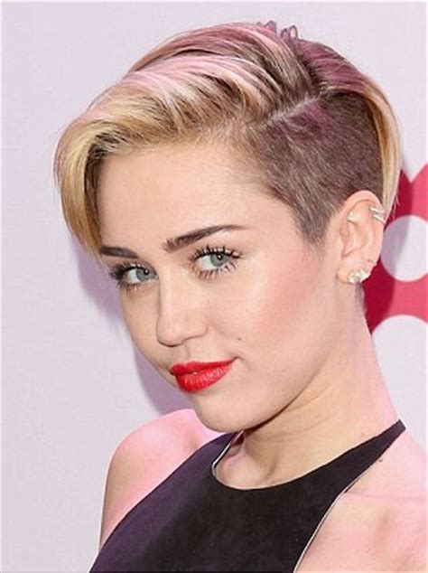 Celebrity Hairstyles: Miley Cyrus Haircut Brown And Blonde