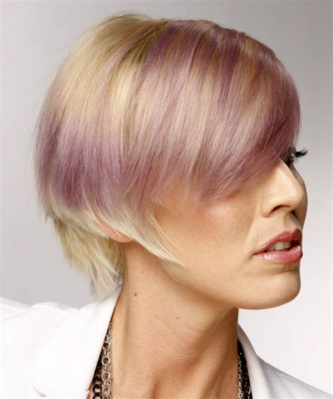 swept back casual haircust short straight casual hairstyle with side swept bangs