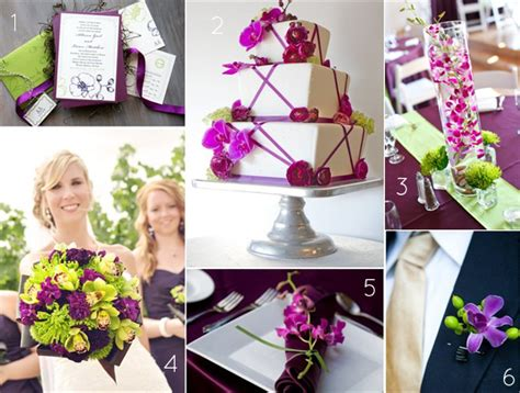 orchid wedding theme ideas in purple and green color palette