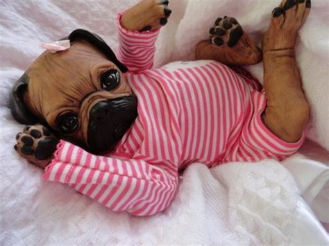 reborn puppy ooak reborn baby pug puppy newborn pugly 1 dolls dollhouses and