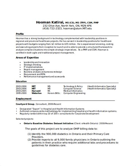 Mit Resume by Computer Science Resume Template 7 Free Word Pdf