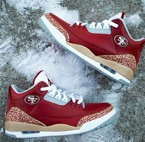 49ers shoes jordans 3 and air 3 on