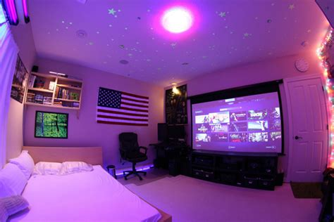 25 incredible video gaming room designs home design and dorm video game room with american flag