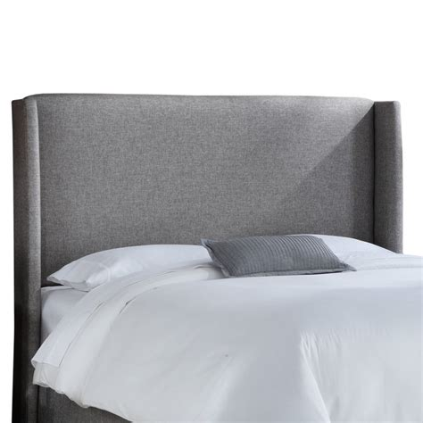 upholstered winged headboard wingback upholstered headboard reviews allmodern