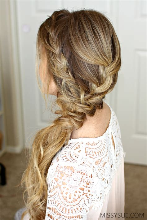 prom hairstyles with braids braided side swept prom hairstyle missy sue
