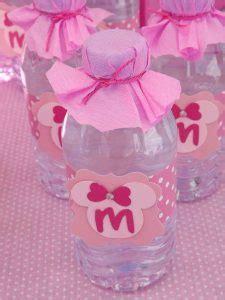 decorar botellas minnie botellas agua fiesta minnie
