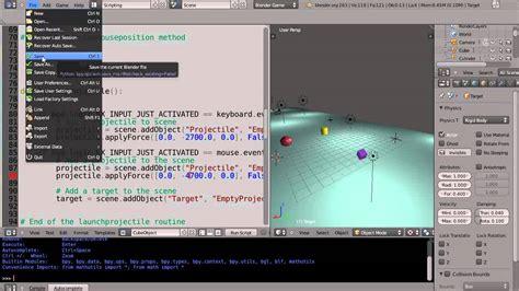 python tutorial blender game engine blender tutorial python game engine programming part