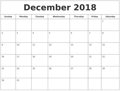 blank calendar template xls december 2018 printable calendar calendar template excel