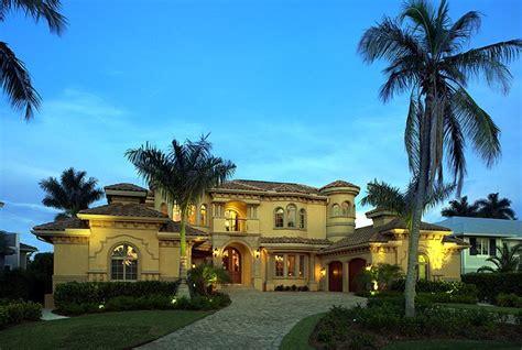 coastal contemporary florida mediterranean house plan