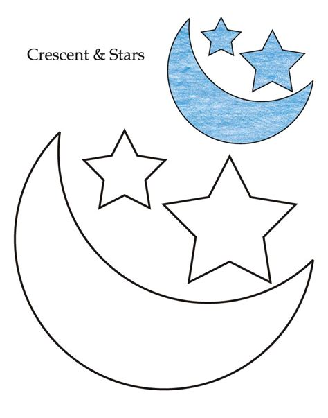 free coloring pages of moon and stars