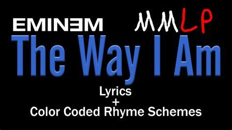 eminem the way i am lyrics eminem the way i am lyric video colored rhyme
