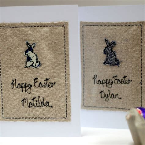 Handmade Personalised Cards - personalised handmade easter card by handmade at poshyarns