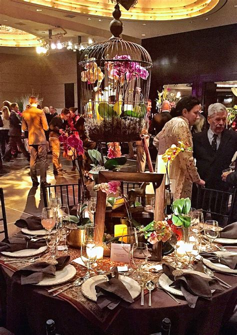 Stylish Entertaining by David Handy At The Orchid Dinner 2015 Quintessence