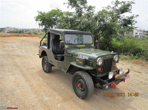 jeep mahindra 1988 mahindra cj 500d 4wd diesel jeep team bhp