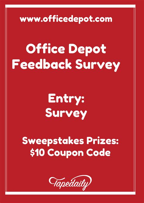 office depot coupons survey www officedepot com feedback office depot feedback survey