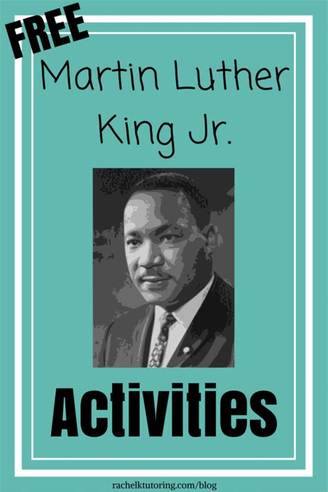mlk biography for students martin luther king jr activities rachel k tutoring blog