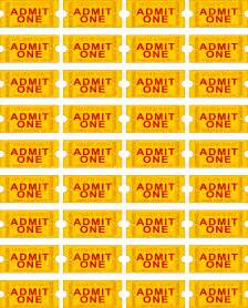 8 best images of free printable tickets printable