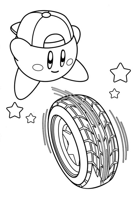 kirby characters coloring pages cute kirby coloring pages pictures