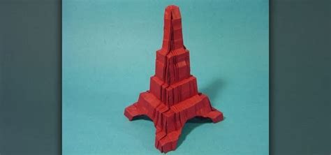 Origami Advanced - how to fold an advanced origami eiffel tower 171 origami