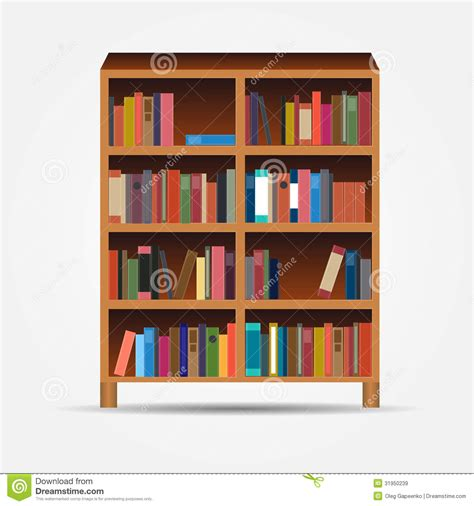 Book Shelf Image by Bookcase Icon Vector Illustration Stock Image Image 31950239