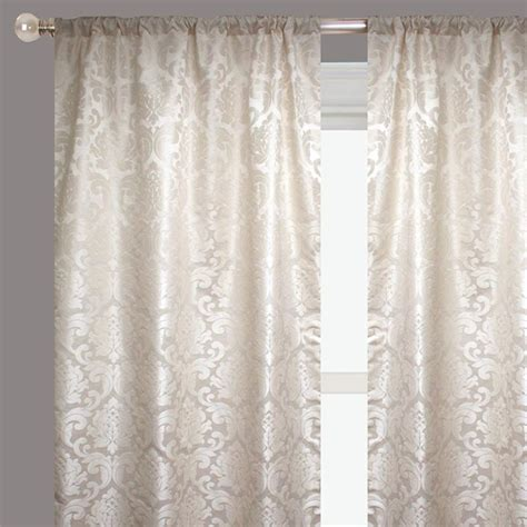 ivory silk drapes alyssa ready made drapery faux silk brocade ivory