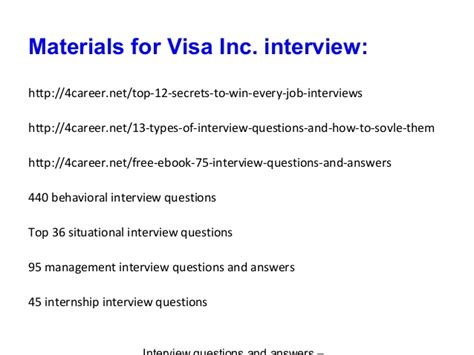 Mba Questions For Visa Inc visa inc questions and answers