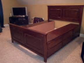 Making Platform Bed With Storage How To Build A Queen Platform Bed With Storage Online