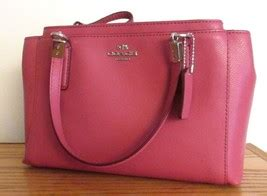 Coach Mini Blecker Black coach 34797 mini christi satchel sunset pink