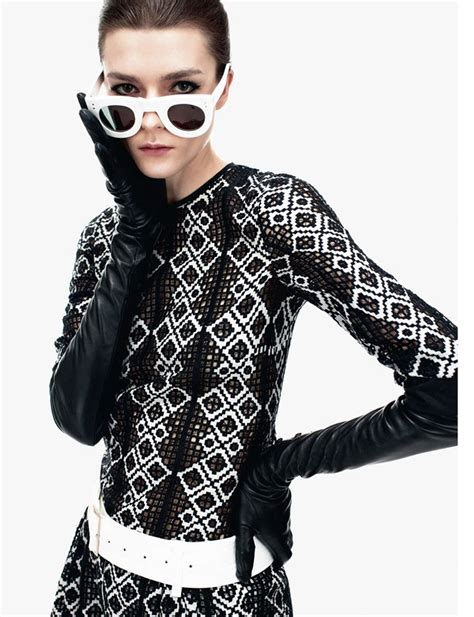Gets All Fashionista In Marchs Harpers Bazaar by Zen Sevastyanova Gets Mod For S Bazaar Uk March