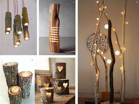 lamparas  troncos led en  cosas hechas de