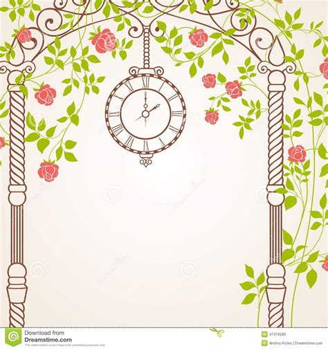 Trellis Plans Free wedding arch stock vector image 47416289
