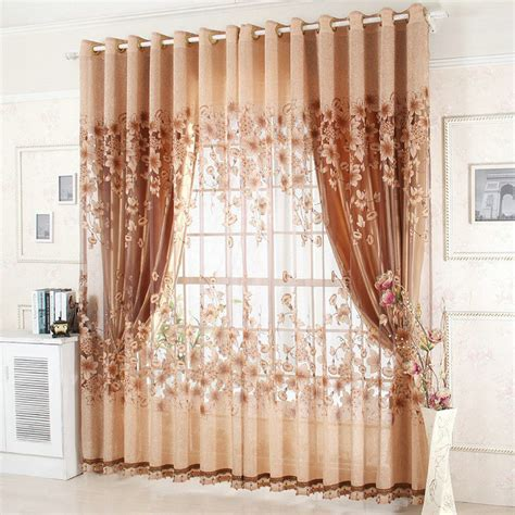 Living Room Picture Window Curtains Aliexpress Buy On Sale Ready Made Window Curtains