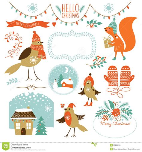 graphic design elements royalty free stock photos image set of christmas graphic elements stock image image