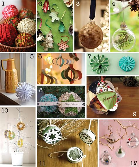 diy christmas decorations the creative place diy christmas ornament round up