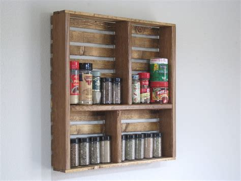 Display Spice Rack Crate Spice Rack Or Knick Nack Display Wall By
