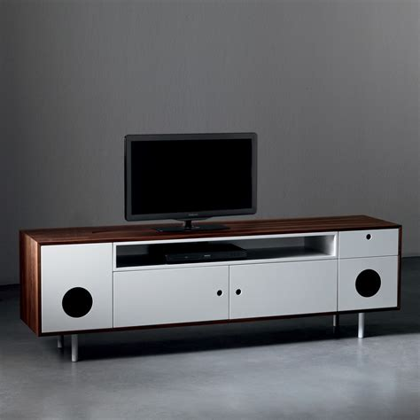 tv stands audio cabinets caixa tv stand cabinet with built in speakers arredaclick