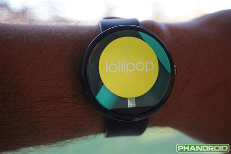 new android wear this is an exclusive look at android wear 5 0 lollipop