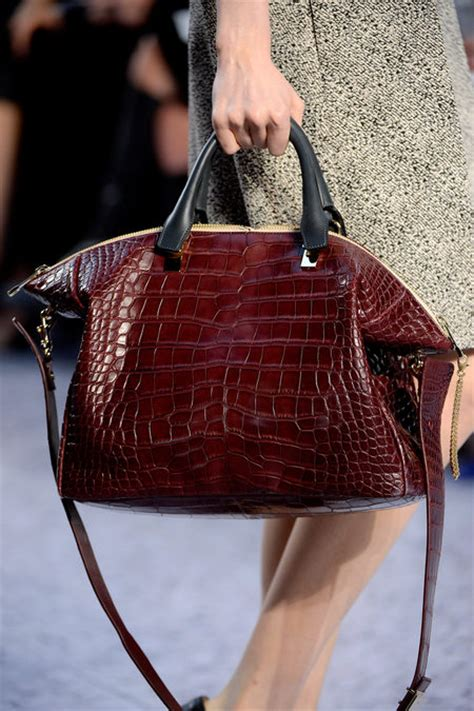 Introducing Chanel Faux Croc Purse the bags of the fall 2013 runway collection