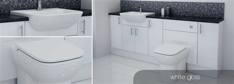 Bathcabz Bathroom Fitted Furniture White Gloss Furniture Gloss White Bathroom Furniture
