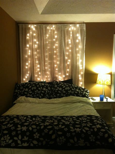 Bedroom Headboard Lighting 15 diy curtain headboard with lights home design and interior