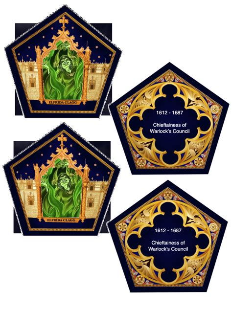 choclate frog cards template the empty suitcase chocolate frog cards