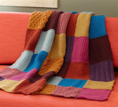 Square Afghan Blanket by Square Tunisian Throw Allfreecrochet