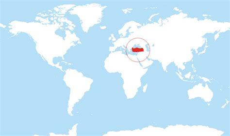 turkey located   world map