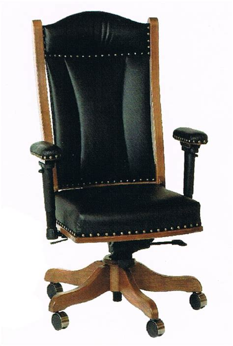ohio state leather office chair office desk chair with adjustable arms in solid hardwood