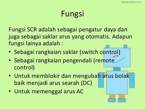 diode scr adalah komponen aktif dan pasif