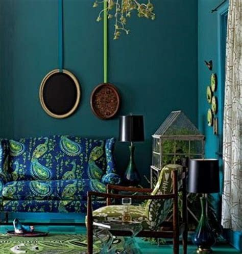 Peacock Color Living Room by 85 Inspiring Bohemian Living Room Designs Digsdigs