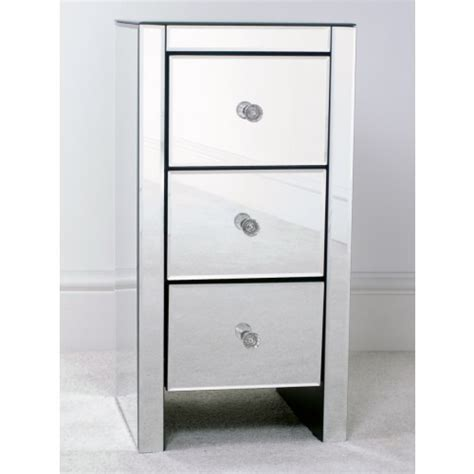 slimline bedroom drawers mirrored 3 drawer slim bedside table small furniture and