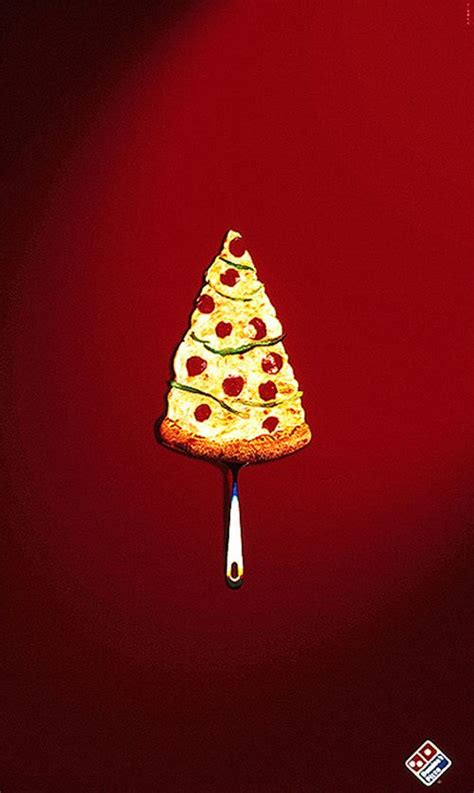 holiday print ads and christmas trees made of things
