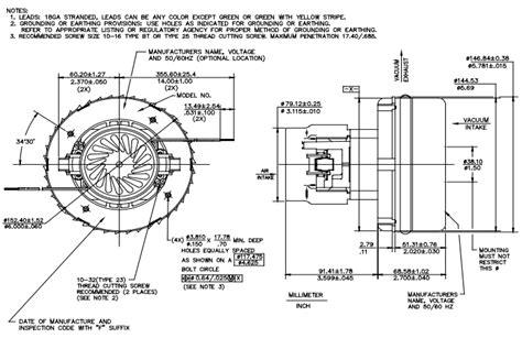wiring diagram for ametek motor genteq motor wiring